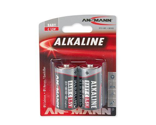 Šarminė baterija R14 (C) 1.5V ANSMANN (2vnt blisteryje)