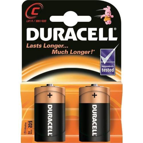 Šarminė baterija R14 (C) 1.5V Duracell (2vnt blisteryje)