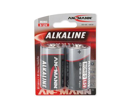 Šarminė baterija R20 (D) 1.5V ANSMANN (2vnt blisteryje)