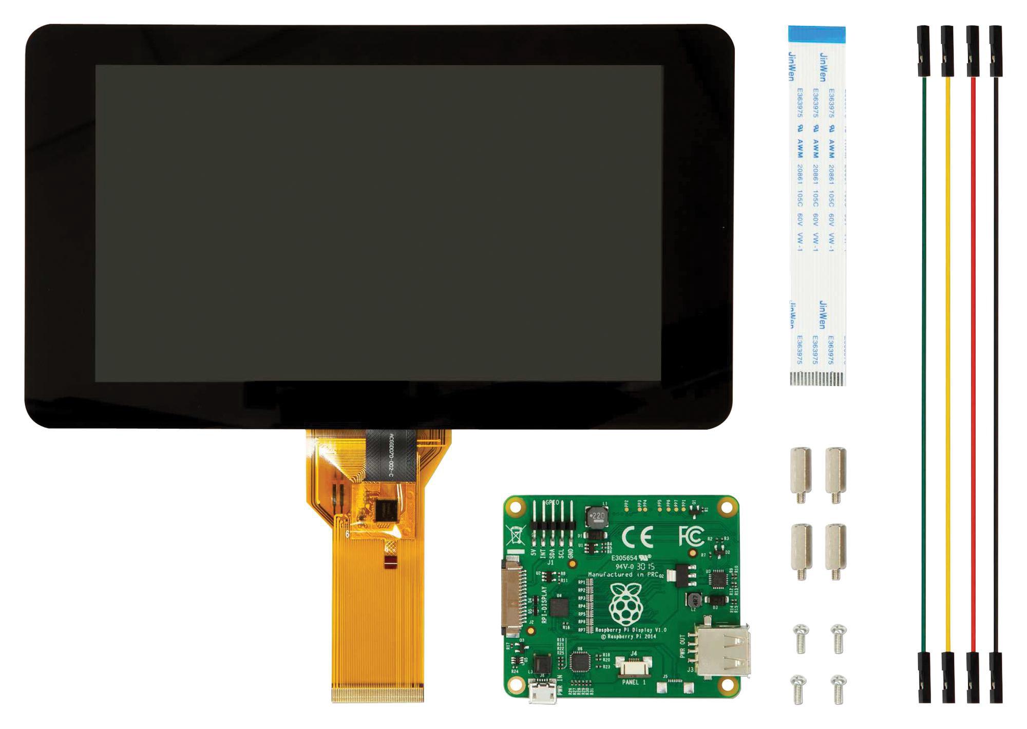 """LCD ekrano modulis 7"""" lietimui jautrus skirtas Raspberry PI kompiuteriams"""
