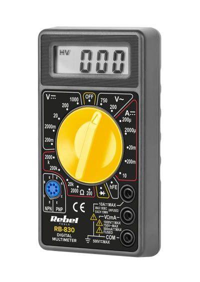 Multimetras skaitmeninis RB830 CAT II 1000 V