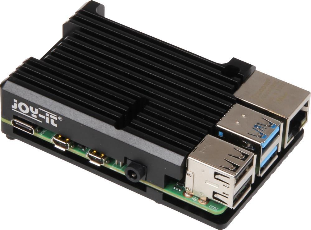 Korpusas mini kompiuteriui Raspberry Pi 4 su radiatoriumi JOY-IT