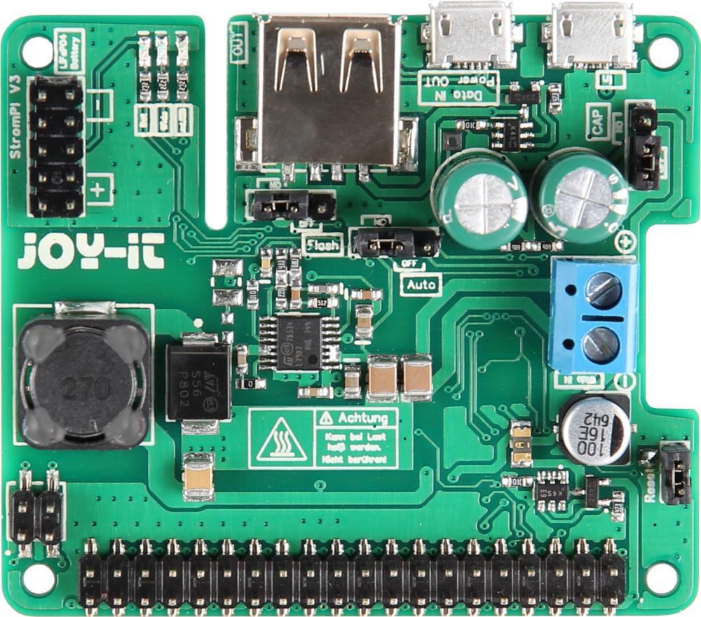 Universalus maitinimo modulis skirtas minikompiuteriams ar mikrovaldikliams StromPi3