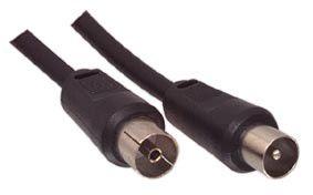 Kabelis TV antenai RF, 5.0m, kištukas - lizdas, juodas