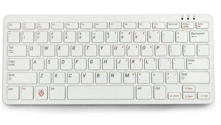 Mini kompiuteris RASPBERRY įmontuotas į klaviatūrą RPI400-US su 4GB RAM