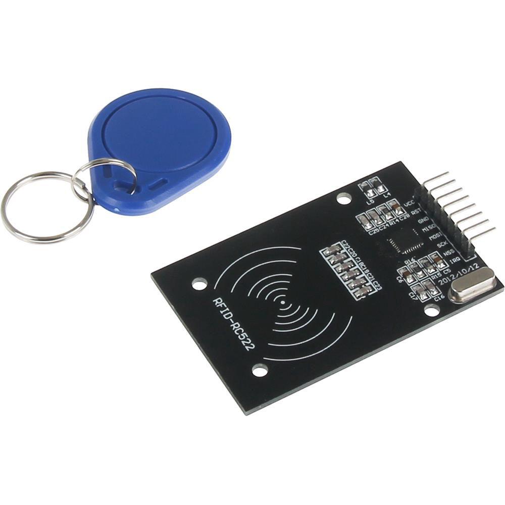 Bevielių raktų MiFare RFID nuskaitymo - rašymo modulis suderinamas su Arduino ir Raspberry