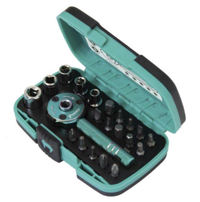 Universalus atsuktuvo antgalių ir raktų galvučių rinkinys (22 dalys), SD-2319M Pro'sKit
