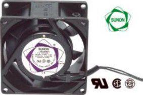 Ventiliatorius 80x80x38mm 230VAC 14W 50m³/h 35dBA su įv. SUNON
