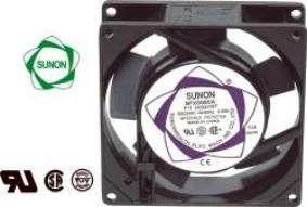 Ventiliatorius 92x92x25mm 230VAC 14.5W 49m³/h 36dBA su įv. SUNON RoHS