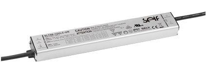 Impulsinis maitinimo šaltinis LED 12V 8A, IP67, 23x40x256mm, SELF
