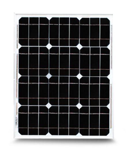 Saulės monokristalinis modulis 20W 18.5V 1.09A, 440x350x25mm