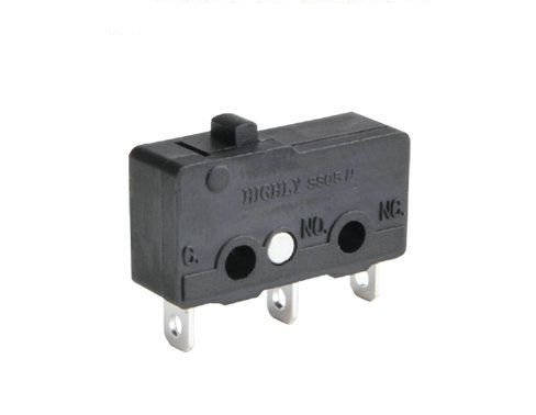 Mikrojungiklis ON-(ON) nefiks 3k. 3A/250VAC  SPDT 19.8x6.4x10.2mm  lituojami kontaktai HIGHLY