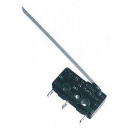 Mikrojungiklis ON-(ON) nefiks, 3k. 3A/250VAC, SPDT 19.8x6.4x10.2mm, 6.3mm kontaktais, su prailginta 50mm svirtele HIGHLY