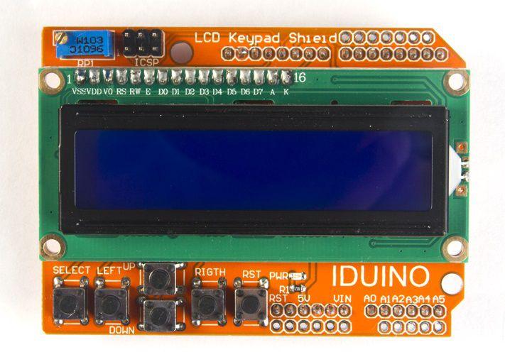 LCD ekrano modulis su valdymo mygtukais suderinamas su Arduino IDUINO