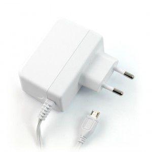 Maitinimo šaltinis 5.1V 2.5A microUSB, tinka Raspberry mikrokompiuteriams (oficialus Raspberry)