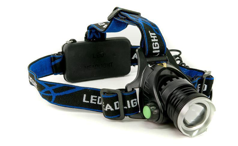 Žibintuvėlis ant galvos įkraunamas 10W LED