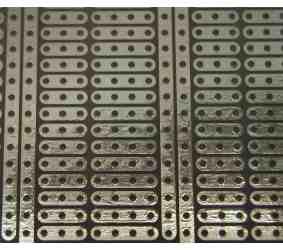 Univ. spausdintinė plokštė 125x66mm, stiklotekstolitas, 1100-kiaurymių