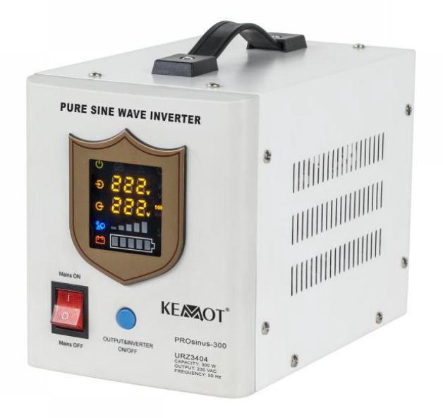Nepertraukiamo maitinimo šaltinis 300W 12V/230Vac sinusas, pernešamas