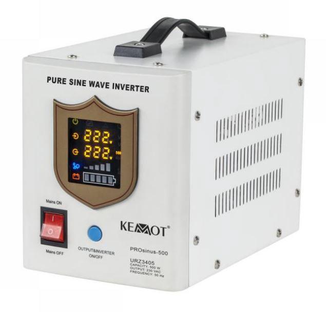 Nepertraukiamo maitinimo šaltinis 500W 12V/230Vac sinusas, baltas, pernešamas