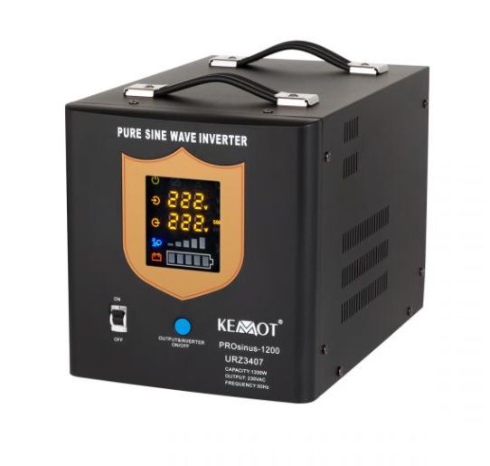 Nepertraukiamo maitinimo šaltinis 1200W 12V/230Vac sinusas, juodas, pernešamas