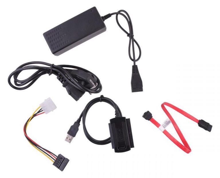 """Adapteris 2.5"""" ir 3.5"""" kietiesiems diskams USB 2.0 - SATA, IDE"""