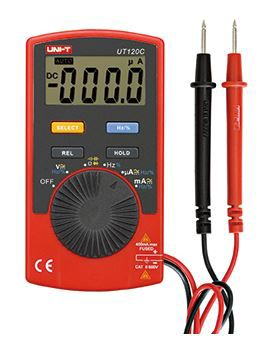 Multimetras UT120C CATII su dažnio, talpos matavimu, diodų tikrinimu UNI-T