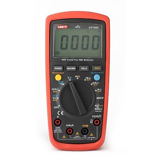 Multimetras UT139C CATIII su dažnio, talpos, temperatūros matavimu, nuolatinės grandinės, diodų tikrinimu UNI-T
