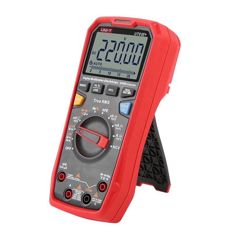 Multimetras 1000V CATIII, CATIV su dažnio, talpos matavimu, nuolatinės grandinės, diodų tikrinimu, True RMS, Uni-T