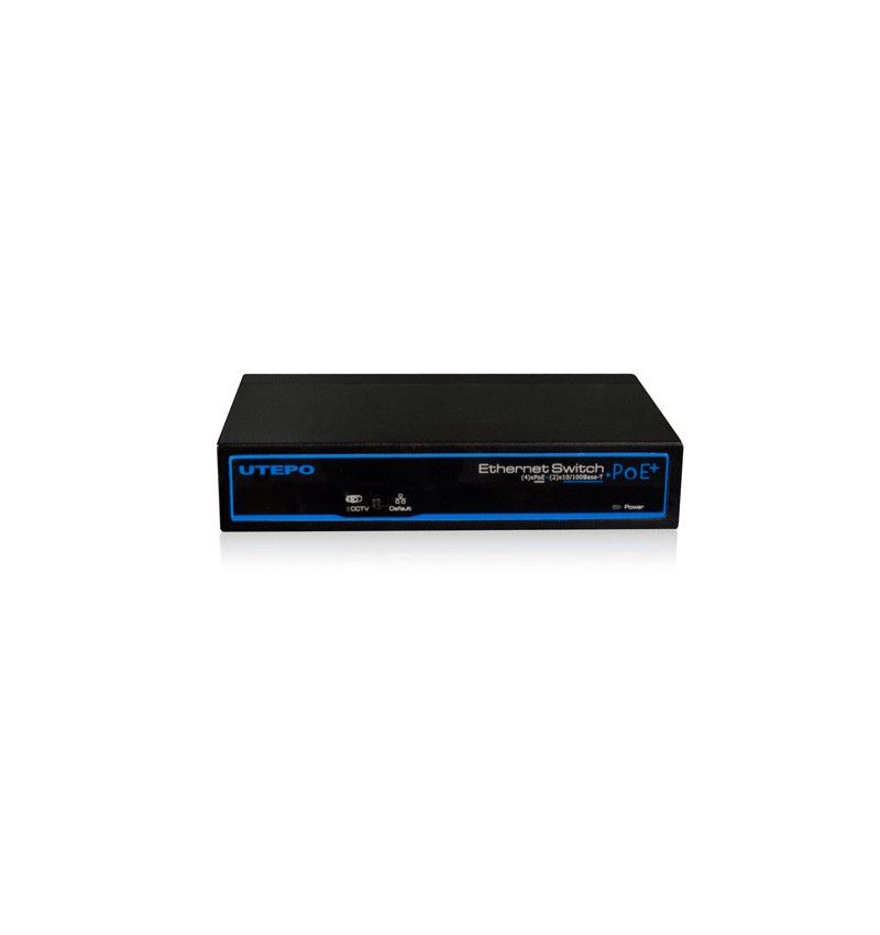 Komutatorius IP kameroms 4x 10/100Mbps; 2x LAN su PoE; UTEPO, Hikvision