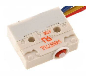 Mikrojungiklis ON-(ON) nefiks, 3k. 5A/250VAC, SPDT 20x17.5x6.4 mm, su 500mm laidais IP67 be svirtelės SAIA-BURGESS