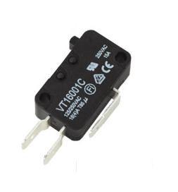 Mikrojungiklis ON-(ON) nefiks, 3k. 16A/250VAC, SPDT 27.8x10.3x18.8mm 6.3mm kontaktai, be svirtelės