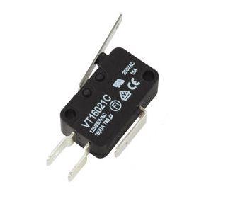 Mikrojungiklis ON-(ON) nefiks, 3k. 16A/250VAC, SPDT 27.8x10.3x18.8mm, 6.3mm kontaktais, su 26mm svirtele HIGHLY
