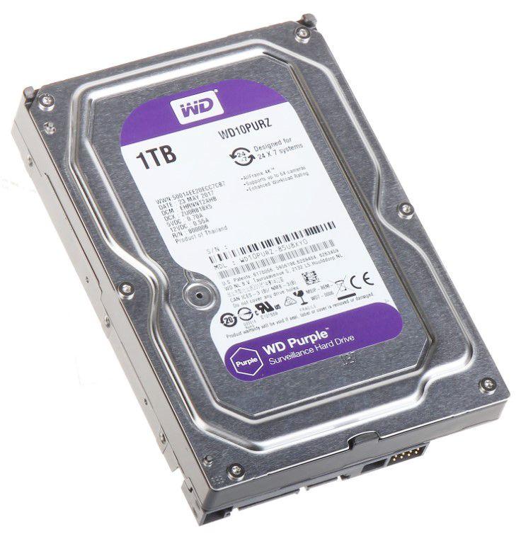 """Vidinis kietasis diskas 3.5"""" 1TB SATA III (skirtas DVR ir NVR įrenginiams), WD Purple"""