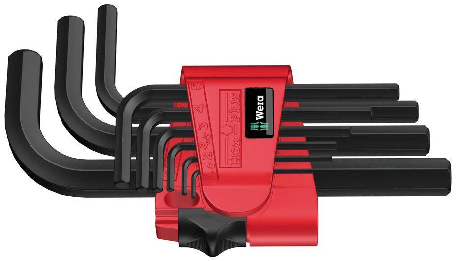L-raktų šešiakampių rinkinys BlackLaser 950/9 Hex-Plus 7, 021737 Wera