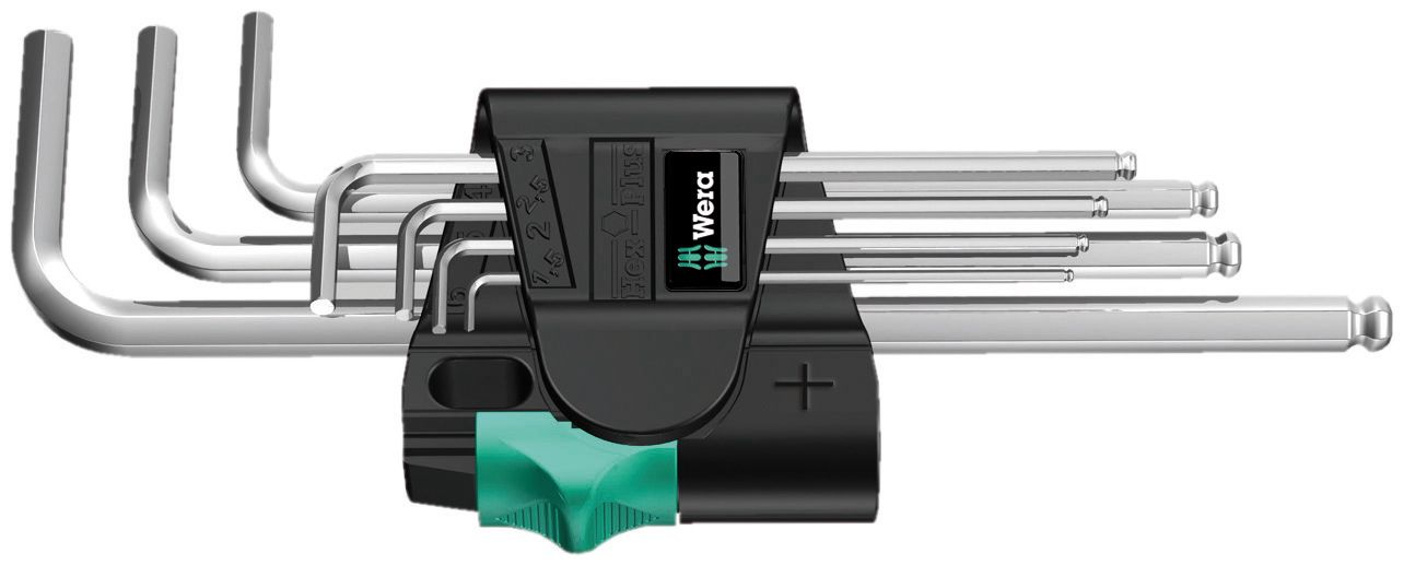 L-raktų šešiakampių rinkinys chromuotas 950/7 Hex-Plus 1, 022181 Wera