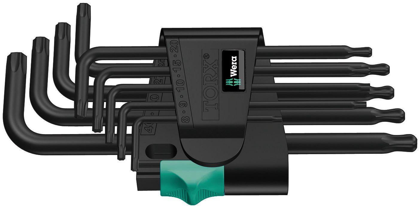 L-raktų TORX rinkinys BlackLaser 967/9 TX 1, 024242 Wera