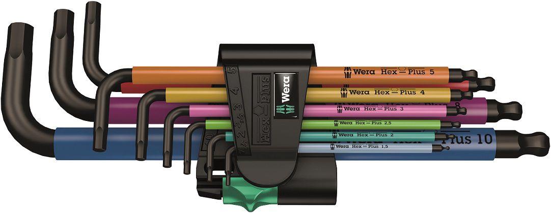 Šešiakampių raktų rinkinys 950/9 Hex-Plus Multicolour 1 SB, 073593 Wera