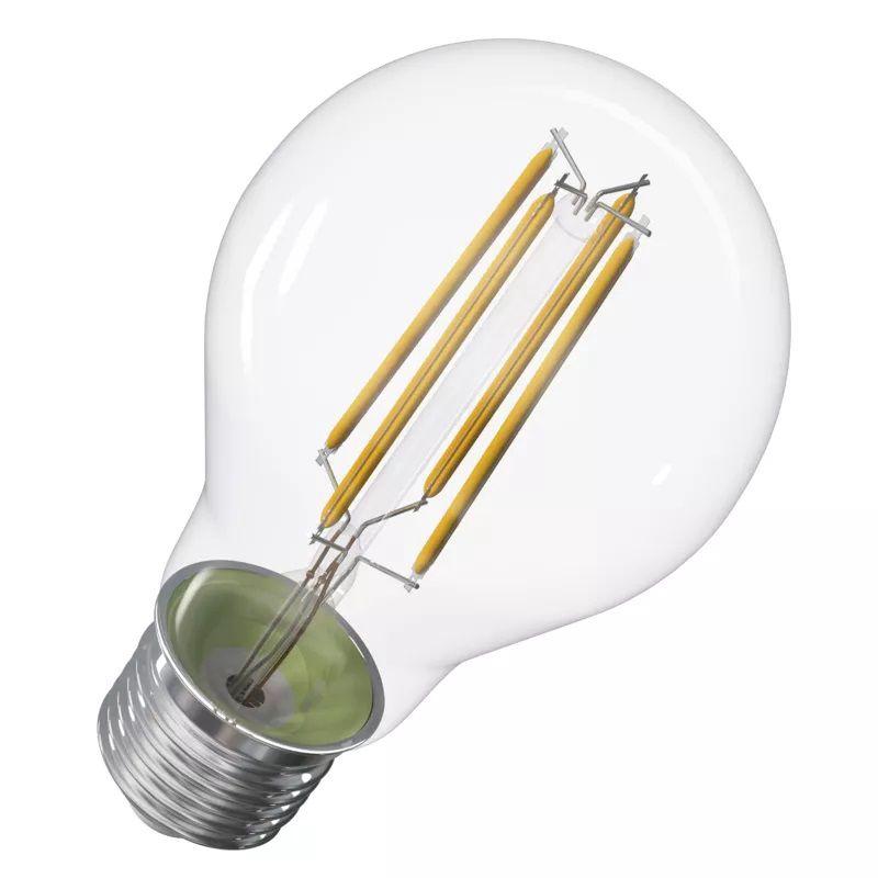 LED lemputė E27 230V A60 8.5W 1060lm, FILAMENT, šiltai balta, 2700K, pritemdoma, EMOS
