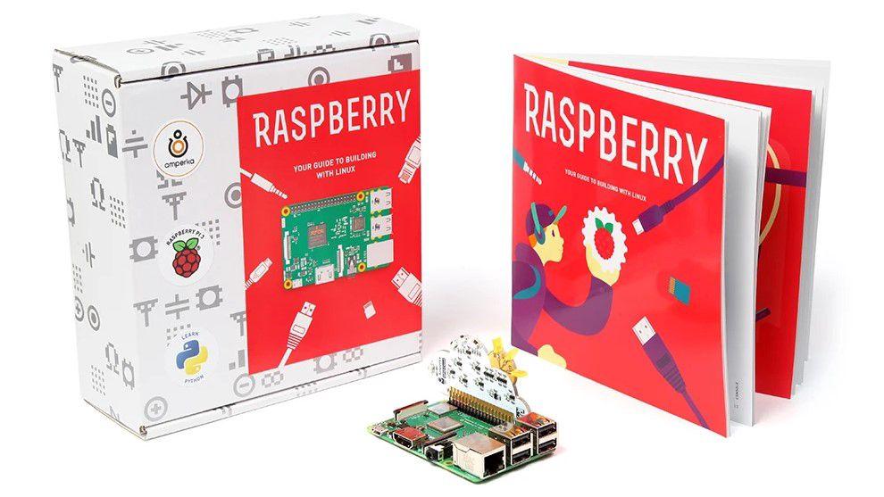 Edukacinis komplektas darbui su Raspberry Pi (komplekte 2GB versija), skirtas mokytis darbui su LINUX ir PHYTON, Amperka