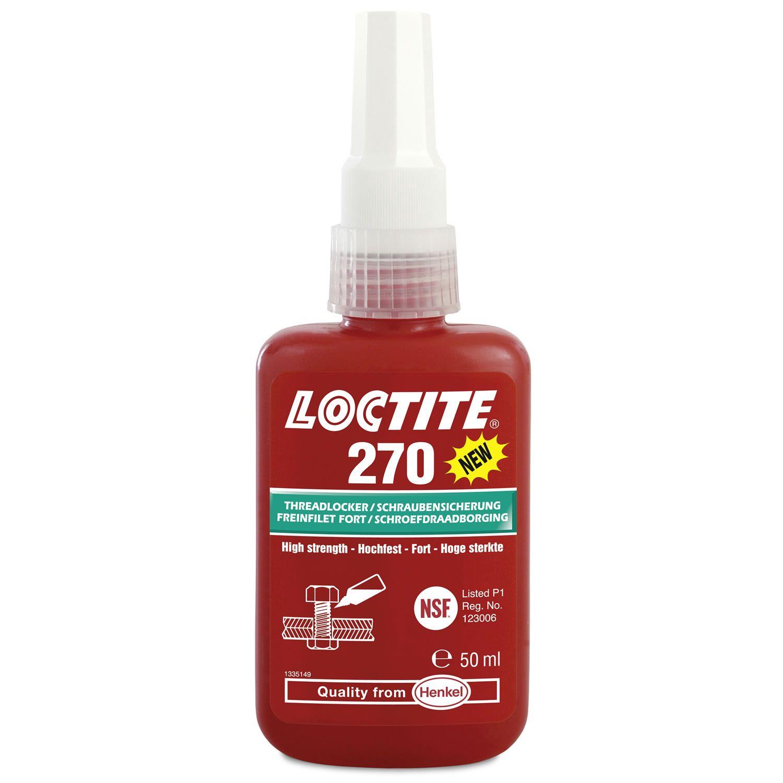 Didelio tvirtumo sriegio fiksavimo priemonė Loctite 270 50 ml.