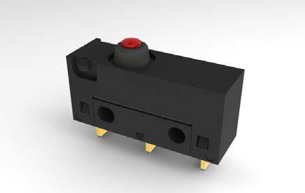 Mikrojungiklis ON-(ON) nefiks, 3k. 6A/250VAC, SPDT 20x17.5x6.4 mm, lituojamais kontaktais be svirtelės, IP67 HIGHLY