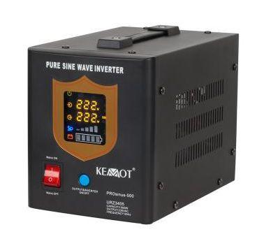Nepertraukiamo maitinimo šaltinis 500W 12V/230Vac sinusas, juodas, pernešamas
