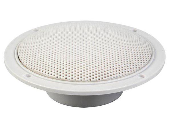 Drėgmei atsparūs lubiniai garsiakalbiai plastikiniu korpusu 80W ø152mm (2 vnt), balti