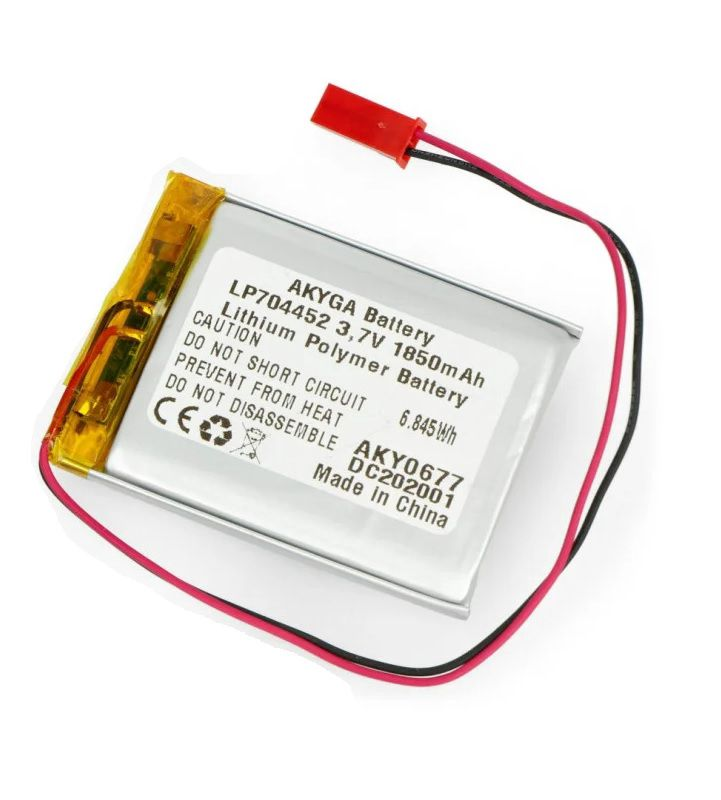 LiPo cell 3.7V 1850mAh 7.0x44x52mm with PCM, with JST termina (LP704452) AKYGA