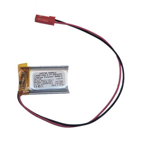 LiPo cell 3.7V 250mAh 6.0x17x30mm with PCM, with JST terminal (LP601730) AKYGA