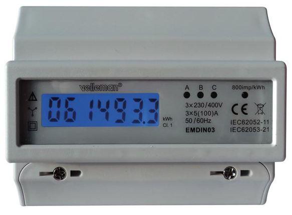 Trīs fāzu elektrības skaitītājs EMDIN03