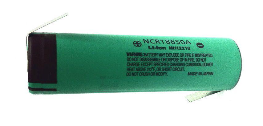 Akumulators 18650 3.7V 3400mAh Li-ion lodējams Panasonic NCR18650B