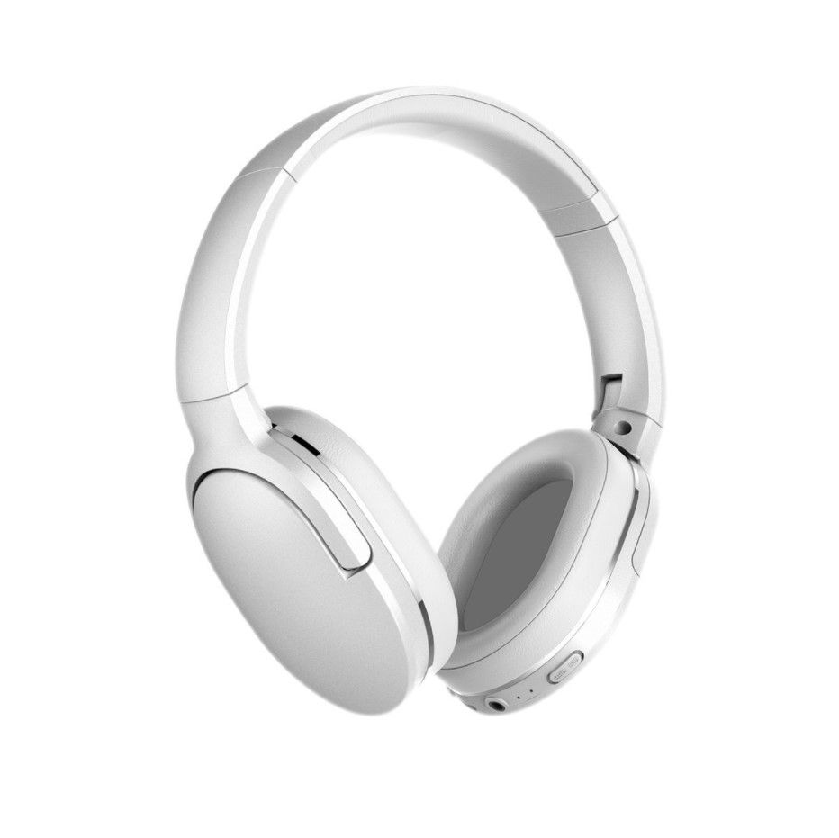 Wireless Bluetooth Over-Ear Headphones Encok D02 Pro with Microphone, White