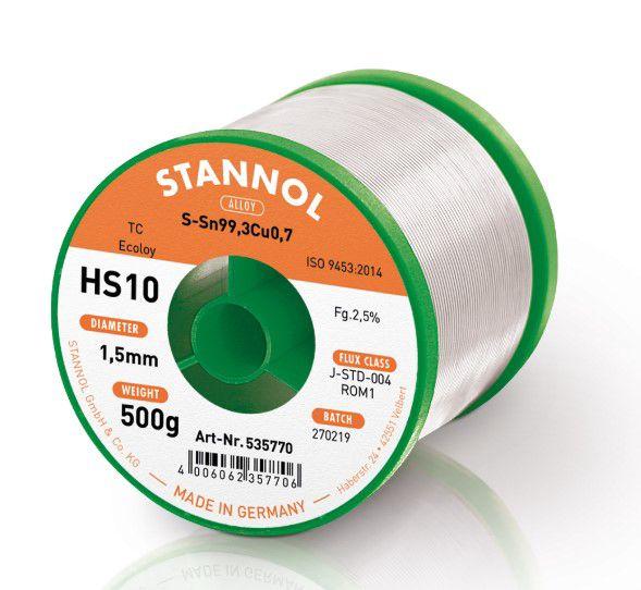 Solder wires Sn99Cu1 1.5mm 500g with flux Stannol