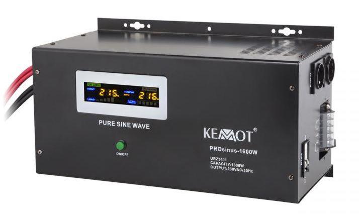 12 V/230 V 1600 W Strāvas invertors ar sinusoidālu izejas spriegumu un uzlādes funkciju